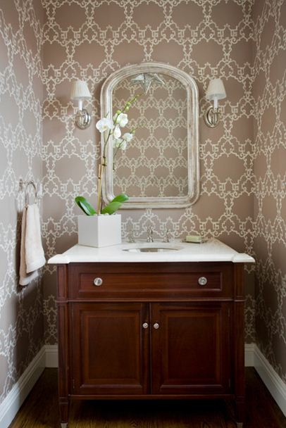 Jll design what to do with the powder room - Powder room wallpaper ideas ...