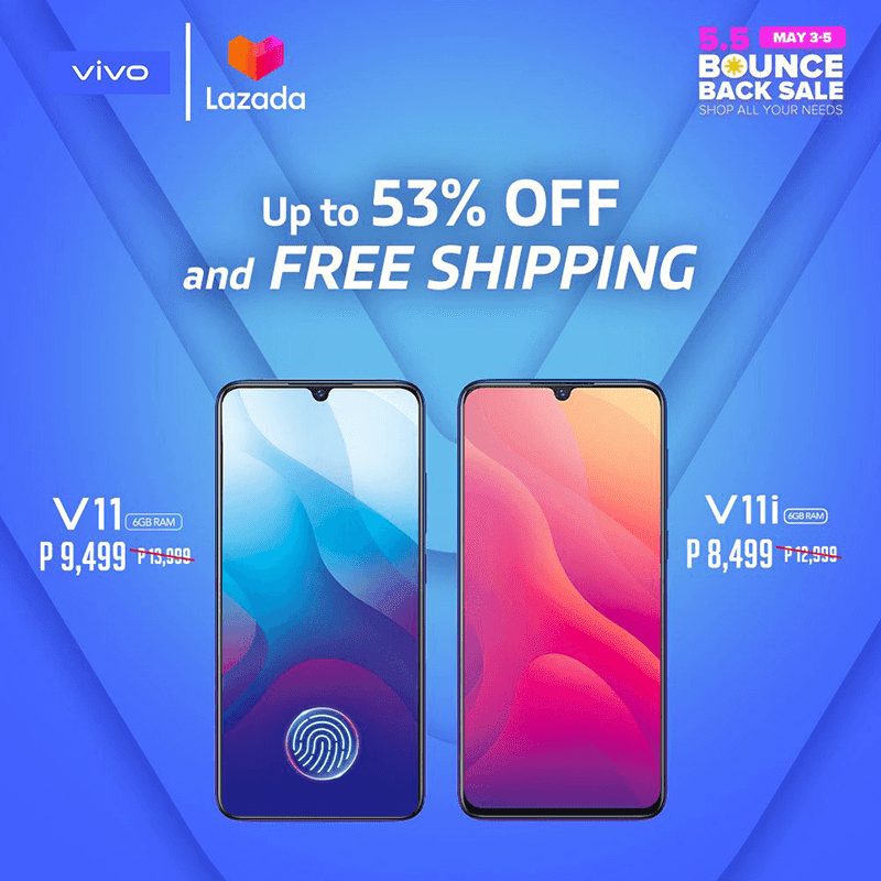 Vivo participates at the Lazada Bounce Back Sale with up to 53 percent off on select items