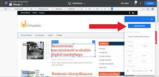 Edycja strony www w Optimize przy pomocy wtyczki