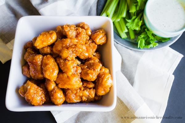 Sticky Finger Popcorn Chicken.  Perfect Party Food!  |  mynameissnickerdoodle.com