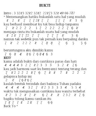 Lirik Dan Not Angka Pianika Bukti Virgoun Smkone Chord Kumpulan Chord Dan Not Lagu