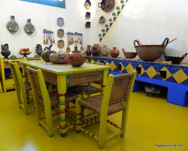Cozinha de Frida Kahlo na Casa Azul, hoje Museu Frida Kahlo