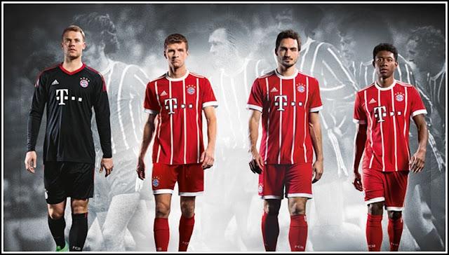 FC Bayern Munich 2017-18 Adidas Home Shirt