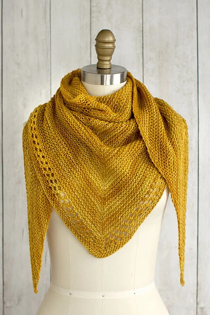 A simple and free shawl knitting pattern