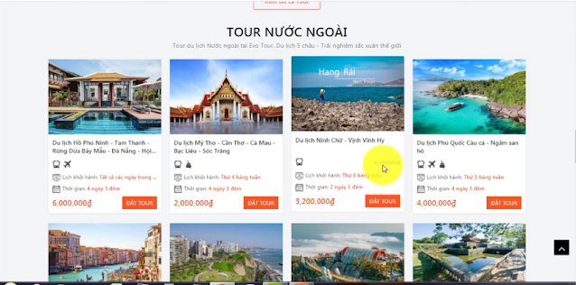giao diện tour du lịch