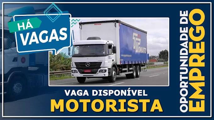 Transportadora Toniato abre vagas para motorista carreteiro
