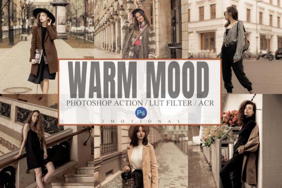 6 Warm Mood Photoshop Action, ACR, LUT 5920083
