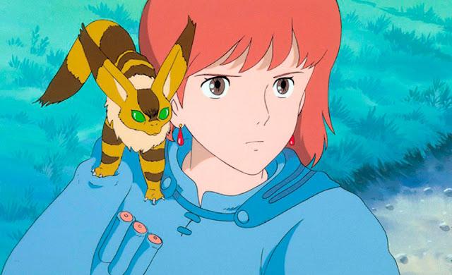Imagen de la película de animación de Studio Ghibli dirigida por Hayao Miyazaki, Nausicaä del Valle del Viento