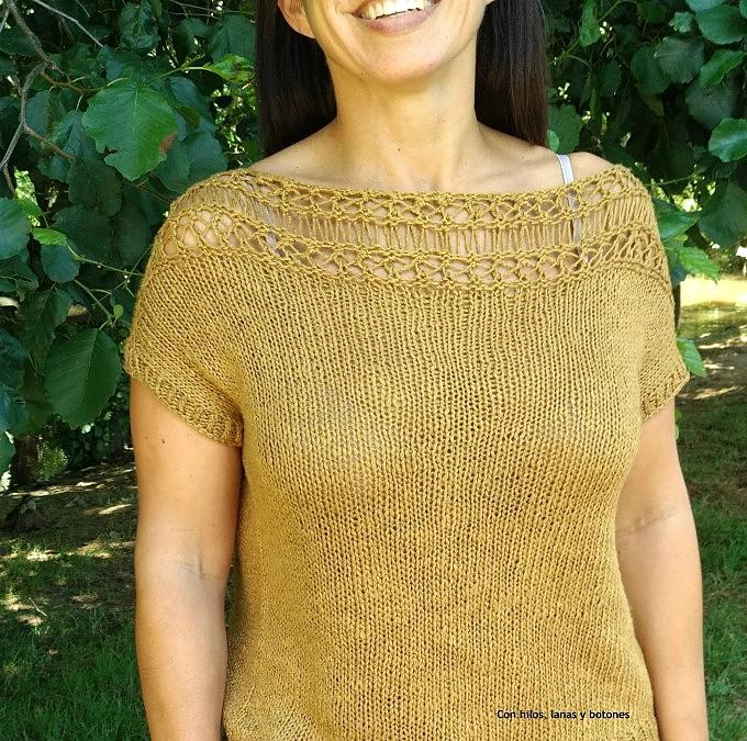 Con hilos, lanas y botones: Satawal Tee