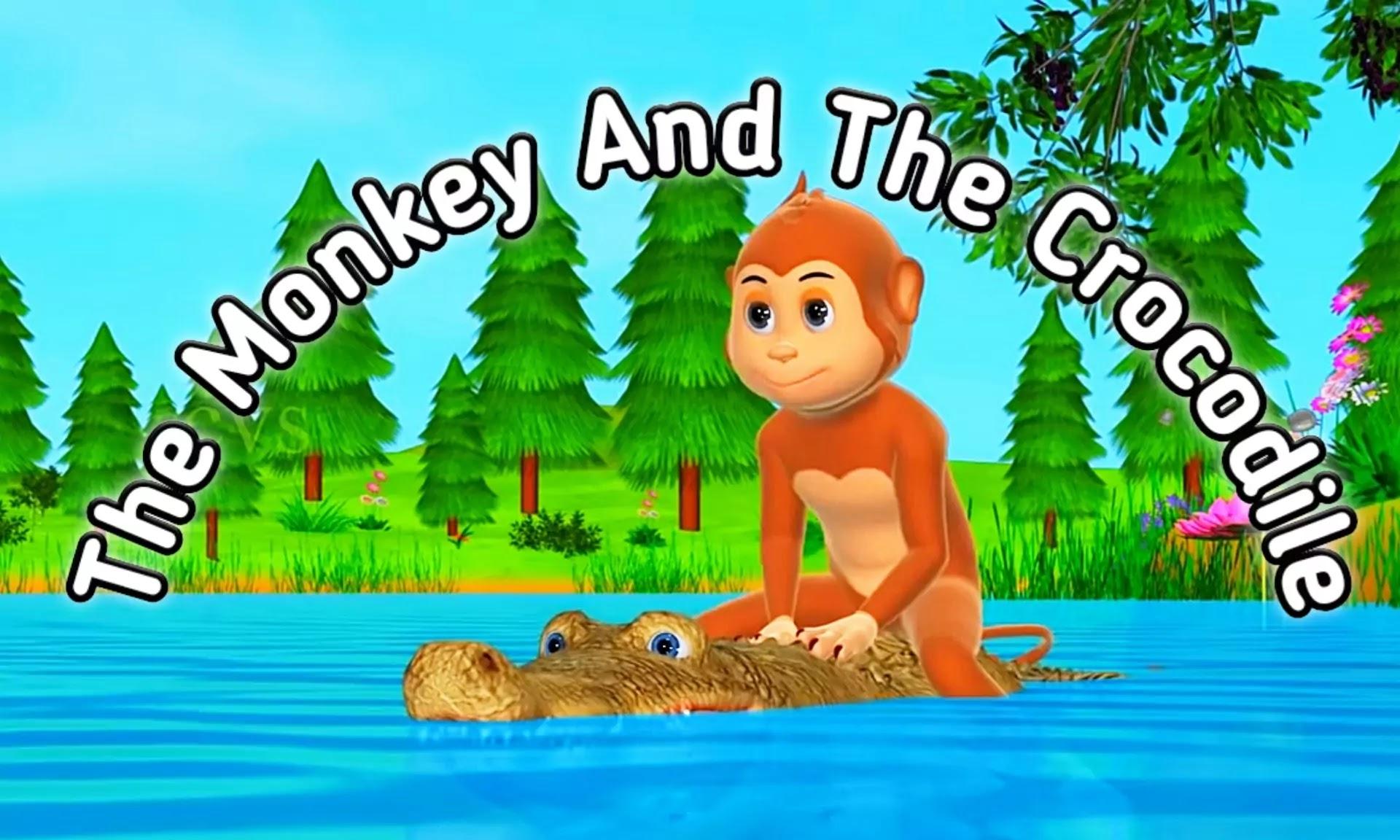 """the monkey and the crocodile story in hindi"""" यानी मगरमच्छ और बंदर की कहानी"""