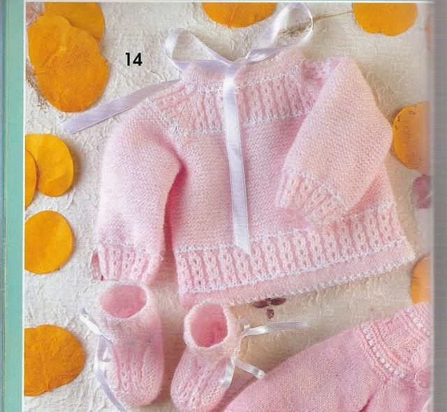 Receita Casaquinho E Sapatinho Rosa Em Trico Para Bebês
