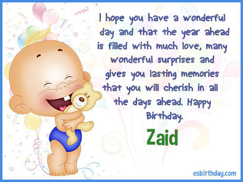 Zaid Happy birthday