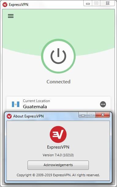 Screenshot ExpressVPN Premium 7.4.0.10210 Full Version