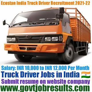 Ecostan India Truck Driver Recruitment 2021-22