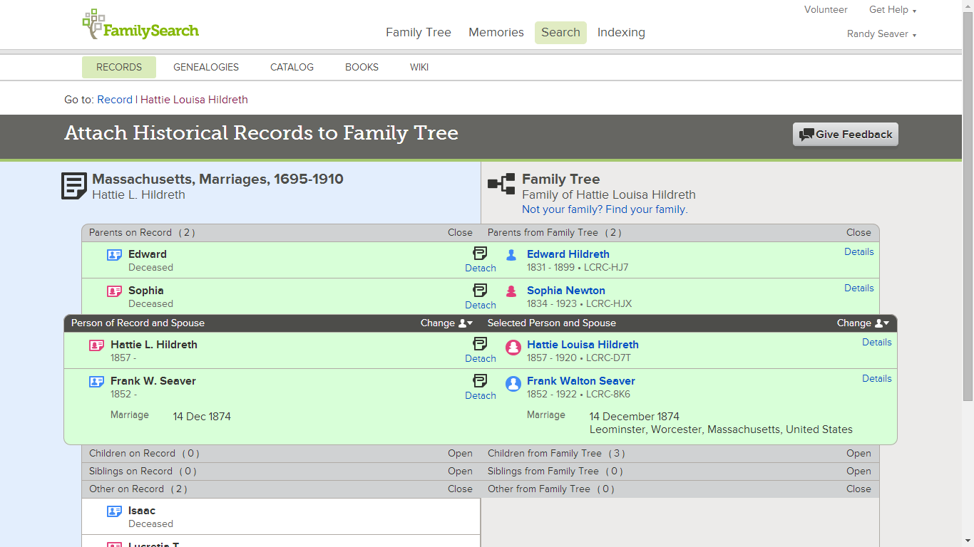 Genea-Musings: Record Hints are Now Available on FamilySearch Family Tree
