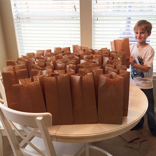 #3 My Son Wanted To Use The $120 He Saved This Year To Help The Homeless. He Made Them Lunches - 12 Kids Who'll Restore Your Faith In Humanity