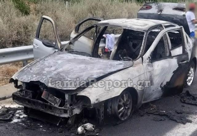 Στυλίδα: Λαμπάδιασε αυτοκίνητο στην εθνική οδό