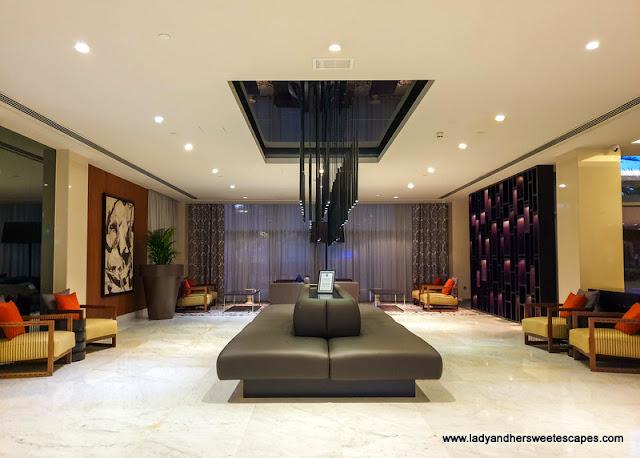 Pullman Dubai Creek City Centre Hotel lobby