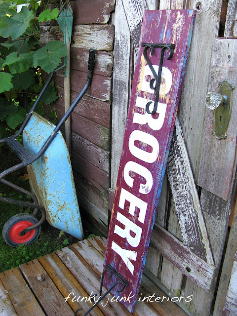 How to make old signs via Funky Junk Interiors
