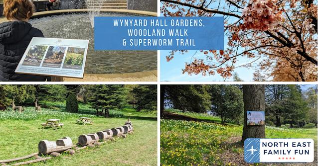 Wynyard Hall Gardens,  Woodland Walk & Superworm Trail