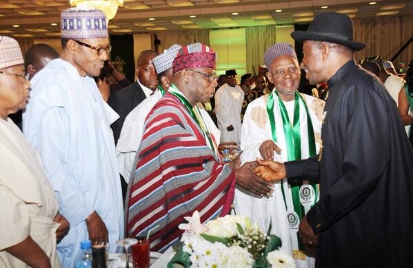 Jonathan joins others at Council of State meeting presided over by Buhari