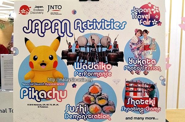 Japan Travel Fair 2018 Activities