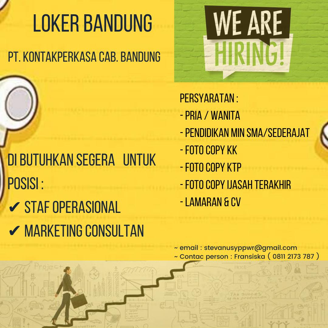 Lowongan Kerja PT. Kontak Perkasa Cab.Bandung Juni 2020