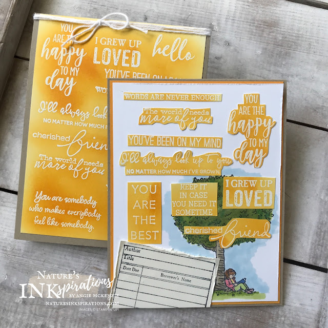 By Angie McKenzie for The Joy of Sets Blog Hop; Click READ or VISIT to go to my blog for details! Featuring the Summer Days Host Stamp Set and the retired Stamp of Authenticity Stamp Set along with a baker's dozen of other current stamp sets featuring FONTS; #stampinup #handmadecards #naturesinkspirations #joyofsetsbloghop #occasioncards  #summerdaysstampset #stampofauthenticitystampset #resistemboss #coloringwithblends #fussycutting #cardtechniques #stampinupinks #makingotherssmileonecreationatatime #naturesinkspirations