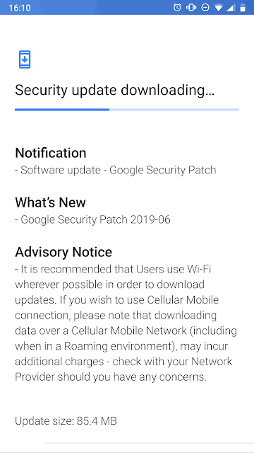 Nokia 8 receiving June 2019 Android Security update