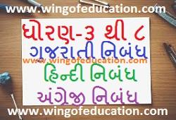 Std-3 To 8 Gujarati, Hindi And English Essay