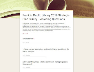 Franklin Library looking for survey responses