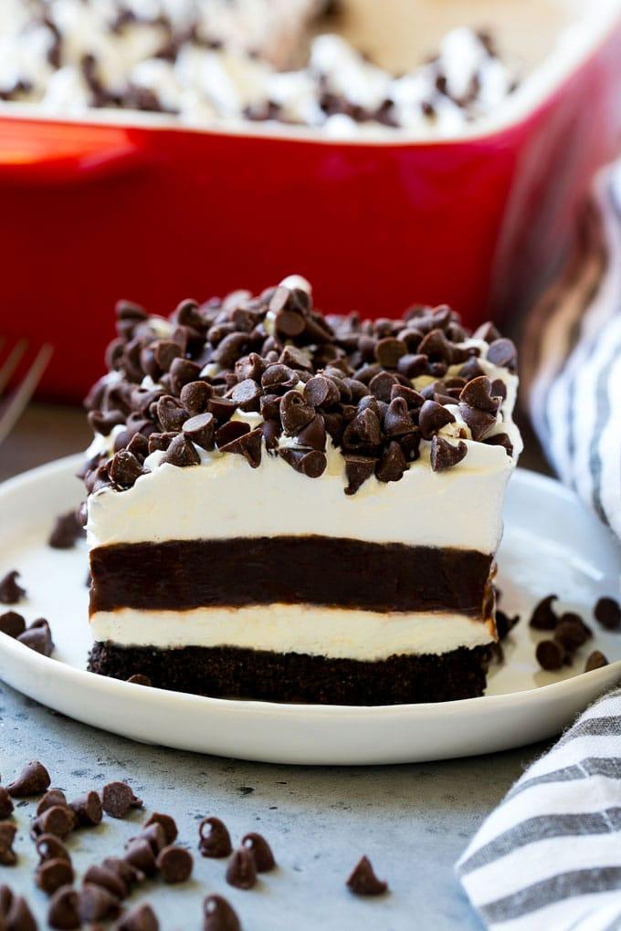 Chocolate Lasagna #lasagna #dessert #chocolate