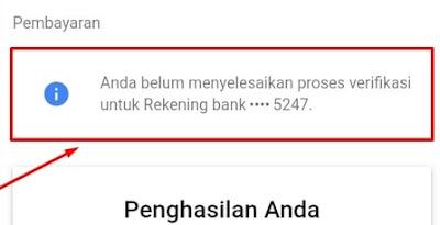 Notifikasi Untuk Melakukan Verifikasi Pembayaran