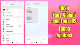 Cara Instal Font IOS Di HP Xiaomi Tanpa Aplikasi