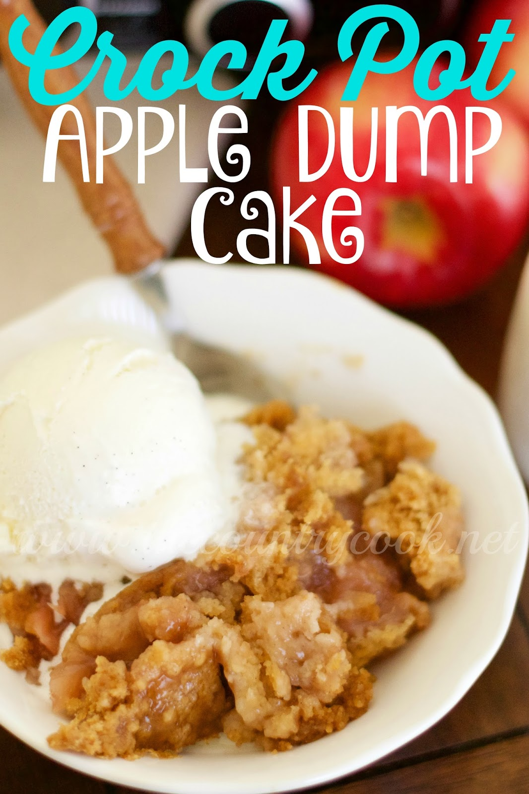 Crock Pot Apple Cobbler Using Cake Mix