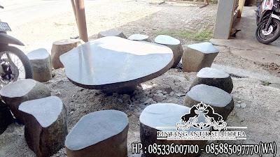 Harga Meja Batu Kali, Meja Taman Batu Alam, Jual Meja Taman Batu Kali