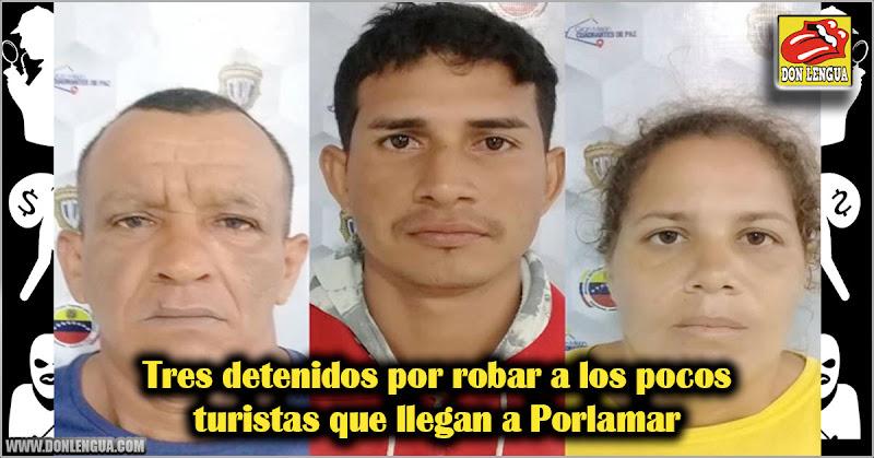 Tres detenidos por robar a los pocos turistas que llegan a Porlamar
