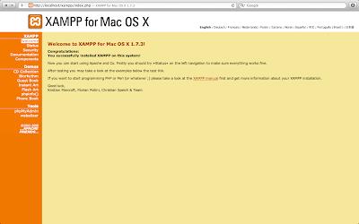 Installing XAMPP on Mac OS X Lion | Web development for starters