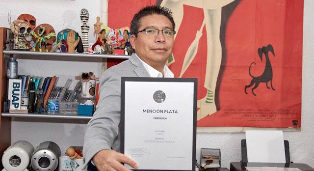 Académico de la BUAP obtiene Mención Plata del Premio a! Diseño 2019