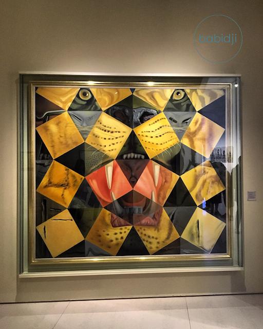 tableau illusion d'optique panthère peint par Dali