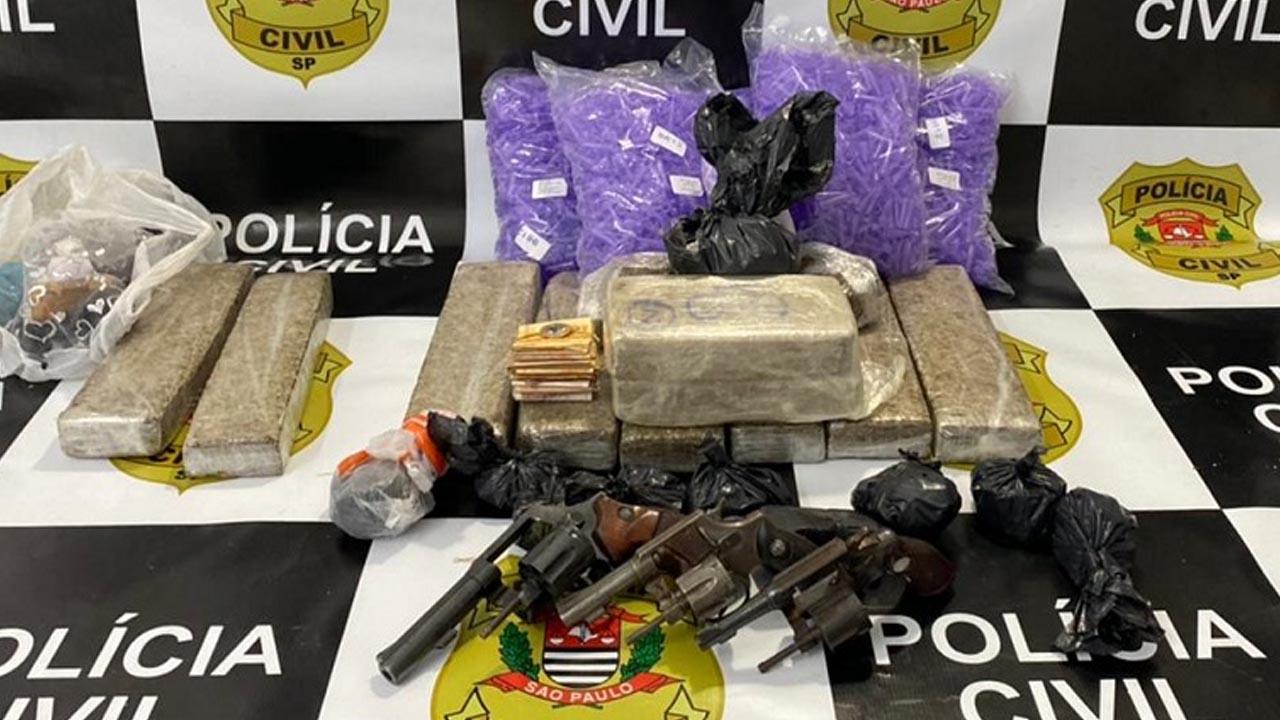 Polícia Civil detém trio com armas e drogas em Mogi Mirim