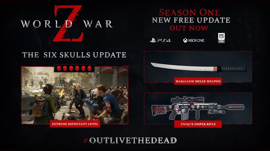 world war z free six skulls update live dlc content saber interactive ps4 xb1