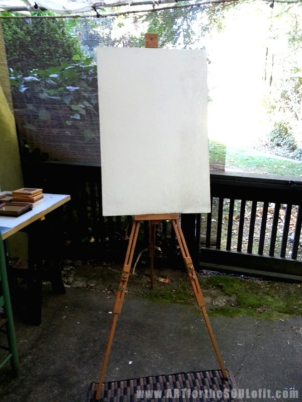 new $10 mabel field easel from swap meet