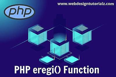 PHP eregi() Function