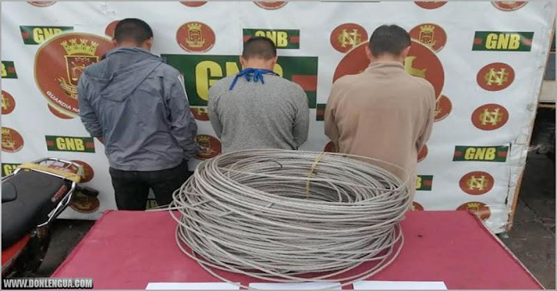 Tres detenidos por robarse 45 kilos de guayas en Mucurubá