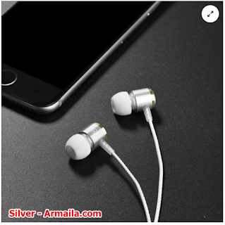 HOCO Earphone M42 Black Red Silver | ARMAILA DROPSHIPPER