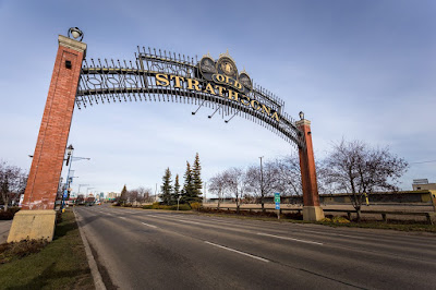 Old Strathcona Edmonton by Laurence Norah