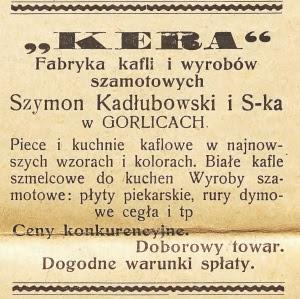 Fabryka kafli Gorlice 1938