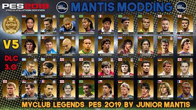 PES 2019 PS4 MyClub Legends Offline v5 by Junior Mantis