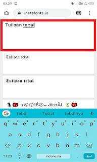 Cara Membuat Tulisan Tebal di FB Lite Android Tanpa Aplikasi